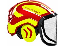 Casque Protos Integral Forest PFANNER (Rouge et Jaune)